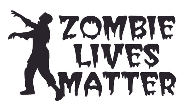 ZOMBIES LIVES MATTER Decal Sticker
