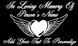 IN MEMORY OF beautiful winged heart Decal Sticker