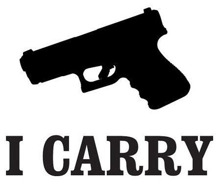 I CARRY Gun Decal Sticker