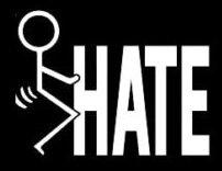 FUCK HATE Stick Man Fuck It Decal Sticker