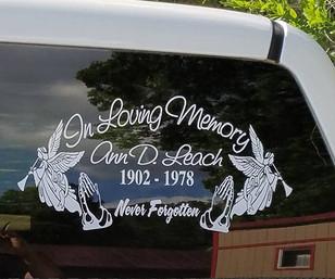 In Loving Memory Decal