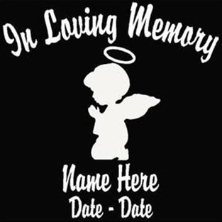 In loving memory of kneeling angel child Decal Sticker