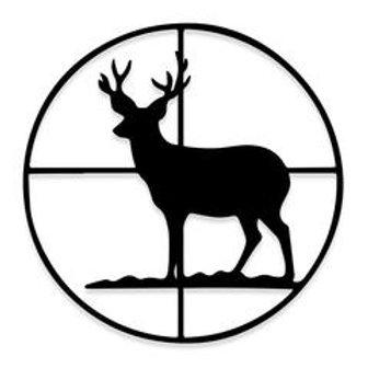 BULLSEYE Dead Deer Walking Hunting Decal Sticker