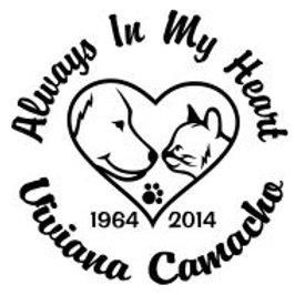Always in my heart pet Decal Sticker