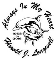 Always in my heart dolphin Decal Sticker