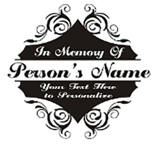In Loving Memory of beautiful plaque 2 Decal Sticker