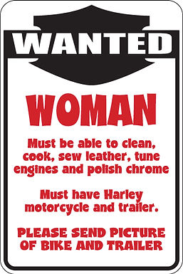 WOMAN WANTED Funny Sign