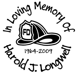 In loving memory of FIRE DEPT hat Decal Sticker