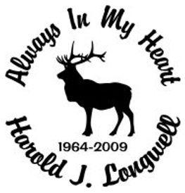 Always in my heart elk hunter Decal Sticker