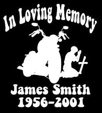 In loving memory bike cross Decal Sticker
