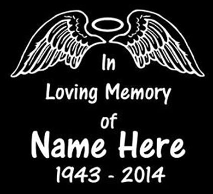In memory of wings Decal Sticker