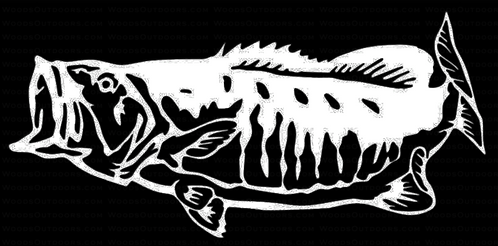 SMALLMOUTH BASS Fishing Decal Sticker