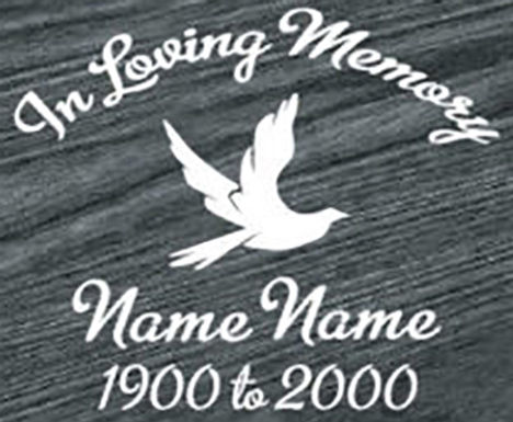 In loving memory of peace dove Decal Sticker