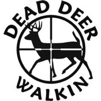 Dead Deer Walkin Hunting Decal Sticker