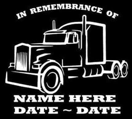 In remembrance of semi Decal Sticker