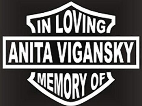 In loving memory of motorcycle bike biker Decal Sticker