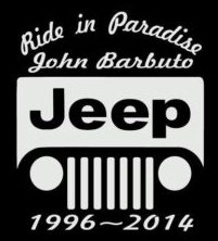 Ride in paradise jeep Decal Sticker