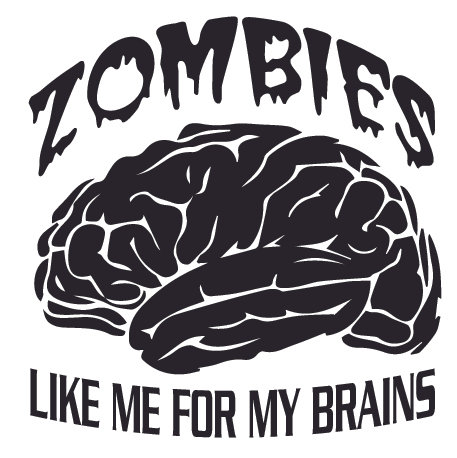 ZOMBIES Like me For My BRAINS Decal Sticker