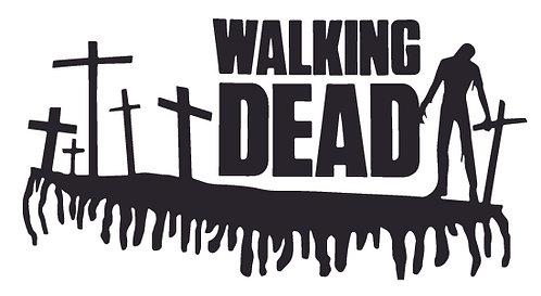 Walking Dead Grave Stone Crosses Decal Sticker