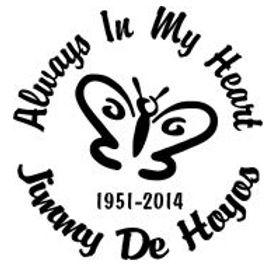 Always in my heart butterfly 8 Decal Sticker