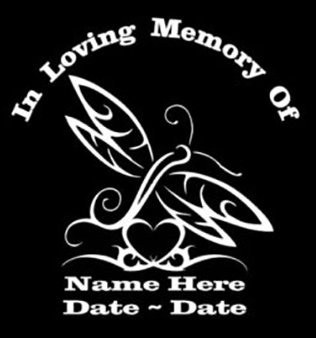 In loving memory dragonfly Decal Sticker