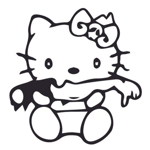 Hello Kitty Zombie Decal Sticker