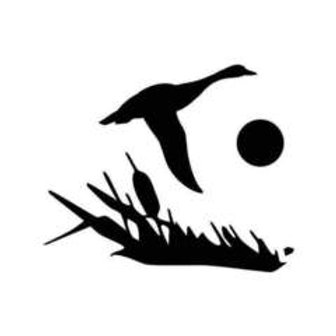 Cattail Duck Hunting Decal Sticker