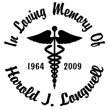 In memory of nurse doctor medical 2 Decal Sticker