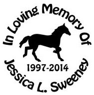 HORSE in memory of circle Decal Sticker