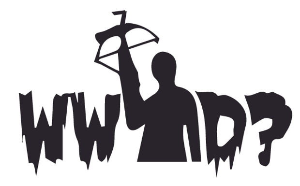 WWDD? What would Darrell What Would Darrel Do - Walking Dead Decal Sticker