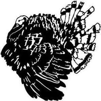 Papa Gobbler TURKEY Hunting Window Decal Sticker