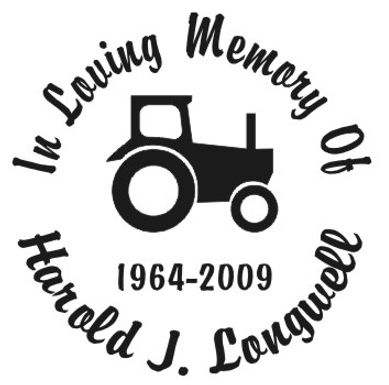 In memory of tractor farm Decal Sticker