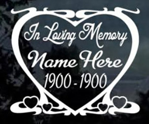 In loving memory of heart design Decal Sticker