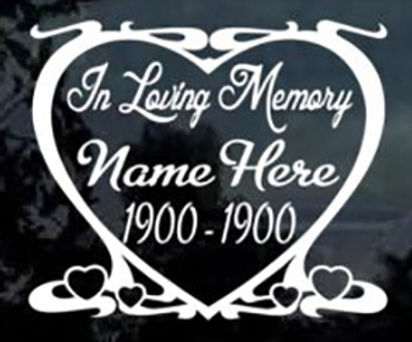 In loving memory of heart design Decal Sticker
