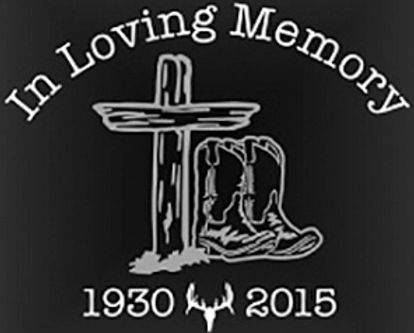 Boots at the cross cowboy cowgirl In loving memory of Decal Sticker