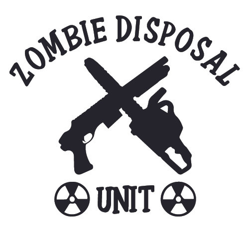 ZOMBIE DISPOSAL UNIT Decal Sticker