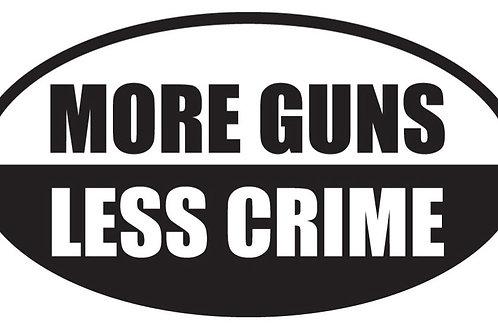 MORE GUNS LESS CRIME Decal Sticker