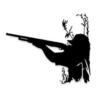 Rifle Hunting from the Sticks Decal Sticker