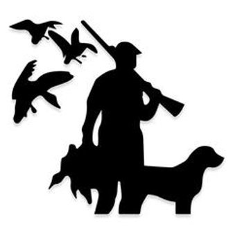 Geese n Duck Bird Dog Hunting Decal Sticker