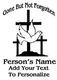 GONE BUT NOT FORGOTTEN 3 crosses Decal Sticker