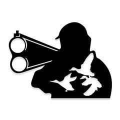 Down the Barrel of Gun Duck Hunting Decal Sticker