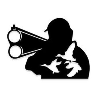 Down the Barrel of Gun Duck Hunting Decal Sticker