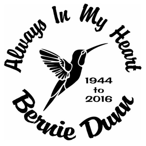 Always in my mind hummingbird in memory of Decal Sticker