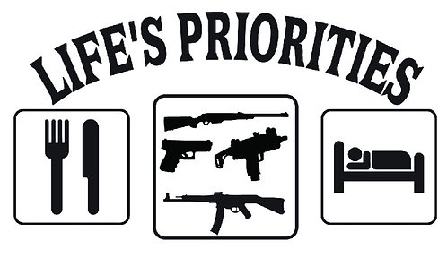 Life's Priorities Eat Sleep Hunt decal sticker