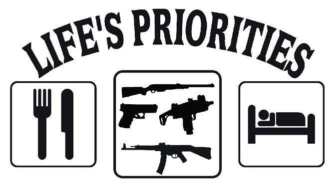 Life's Priorities Eat Sleep Hunt decal sticker
