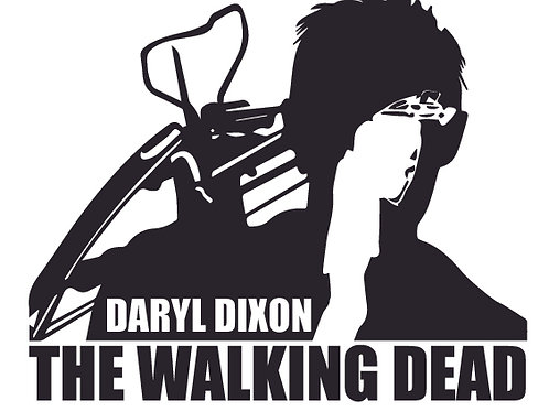 DARYL DIXON armed and ready The Walking Dead Decal Sticker