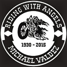 Riding with angels motorcycle Decal Sticker