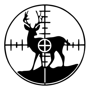 In my Site! Deer Scope Hunting Decal Sticker 2