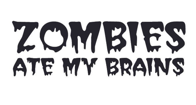 ZOMBIES ATE MY BRAINS Decal Sticker