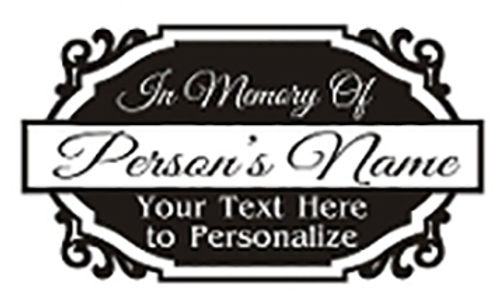 In Loving Memory of beautiful plaque Decal Sticker